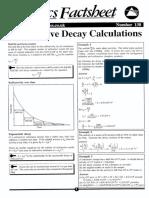 Radioactive Decay Calculations