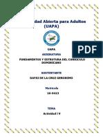 Lvfundamentos y Estrutura Del Curriculo Dominicano