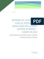 Informe de coyuntura - Federación aceitera