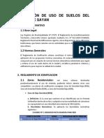 Zonificación de Uso de Suelos Del Distrito de Sayan
