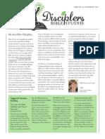 Disciplers Bible Studies Spring 2017 Newsletter