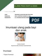 Imunisasi Ulang Pada Bayi & Anak