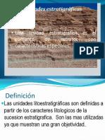Unidades Estratigráficas 1