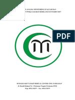 Laporan Analisa Monitoring Evaluasi Dan