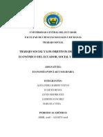 Trabajo Social y Los Objetivos Del Sistema Económico Del Ecuador, Social y Solidario