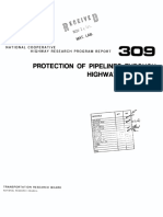Protection of Pipeline Through Highway Roadbeds