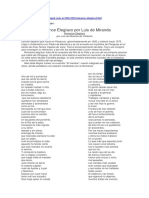 Romance Elegíaco de Luis de Miranda