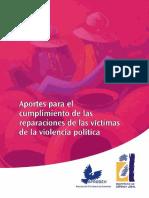 Aportes para el cumplimiento de las víctimas de la violencia política