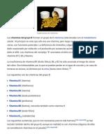 Vitaminas Del Grupo B - Wikipedia, La Enciclopedia Libre