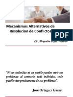 Mecanismos Alternativos de Resolución de Conflictos