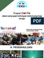 Program Genre Dalam Penyiapan Kehidupan Berkelarga Bagi Remaja