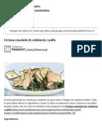 Liviana Ensalada de Calabacin y Pollo - IMujer