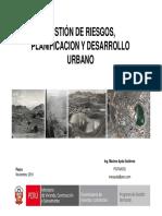 Gestion de Riesgos, Planificacion y Desarrollo Urbano