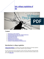 How to calculate voltage regulation of distribution line.docx