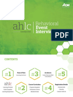 AHLC Catalog Behavioral Event Interviewing