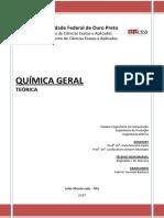 Apostila Teorica Quimica _2016