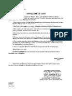 Affidavit of Loss- Udquin