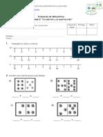 Evaluación Unidad 2 MATEMÁTICA