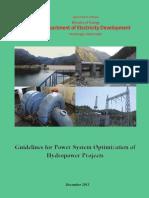 Power System Optimization Guidlines