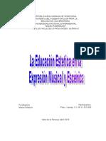 La Educación Estética Fines Y Propósitos