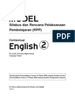 RPP Contextual English SMA 2 Bhs