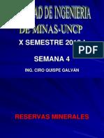 Clase 4 Reservas Minerales