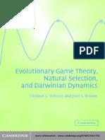 Teoría de Juego Evolutivo, Selección Natural y Darwinian Dinamica-Thomas L Vincent-Joel S Brouwn-CAMBRIDGE