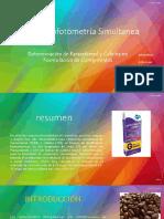 Determinacion de Paracetamol y Cafeina Por Espectofotometria