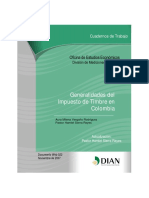 Generalidades Del Impuesto de Timbre en Colombia (Actualización)
