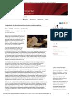 Inequidade de gêneros na ciência varia entre disciplinas - SciELO em Perspectiva (2015)