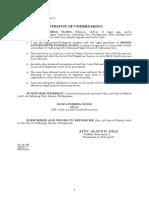 Affidavit of No BC