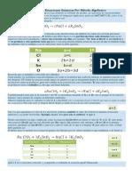 Balanceo de Ecuaciones Químicas Por Método Algebraico
