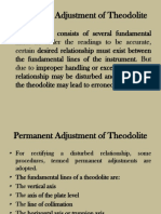 Permanent Adjustments of Theodolite