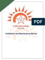 V Star Solar Energy Installation Manual