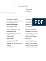 Lista de Materiales PIE