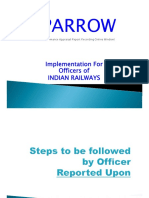 Steps to Be Followed by Officer Reported Upon