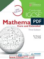 Mathematics - IGCSE - Guinness and Nagle - Third Edition - Hodder 2013