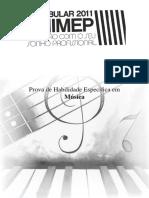 Prova Habilidade Especifica Musica 2011 i