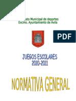 Normativa General 2010-2011