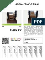 Verkaufsschild Barstuehle Mobitec Bari 3 Stueck