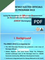 Bneo-2013 Bneo Program