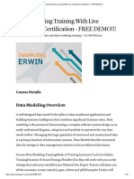 Data Modeling Training With Live Projects & Certification - FREE DEMO!!!