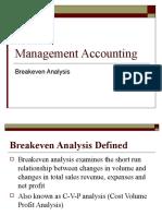 Breakeven Analysis 0