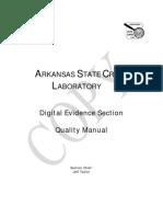 Ar Digital Evidence Quality Manual
