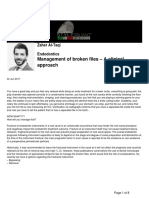 Management of Broken Files a Clinical Approach