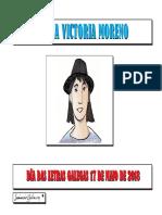 Biografía e obra de Mª Victoria Moreno