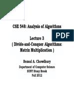 Strassen's Algorithm