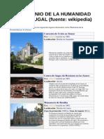 Patrimonio de La Humanidad en Portugal