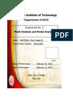 E103 - Mesh Analysis and Nodal Analysis
