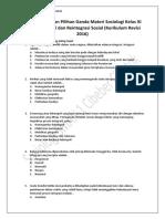Soal Pendalaman Pilihan Ganda Materi Sosiologi Kelas XI Bab 5. Integrasi Dan Reintegrasi Sosial (Kurikulum Revisi 2016) (1)